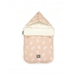 Śpiworek do wózka i fotelika Cottonmoose - 330 Leaf Powder Pink Cotton