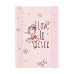 Przewijak nadstawka krótka twarda 50x70 cm Ceba Baby - Tańcząca Baletnica różowa