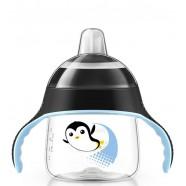 Kubek niekapek Pingwinek 200 ml 6m+ z miękkim ustnikiem Avent SCF751