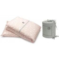 Pościel 3-el Cottonmoose drukowana Forest Pink