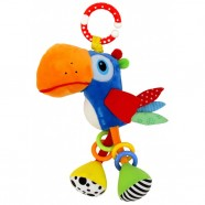 Zabawka pluszowa podróżna z wibracją Baby Mix TE-8355-25 - Tukan