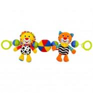 Zabawka pluszowa do wózka Baby Mix TE-8377-48 - Tygrys i Lew
