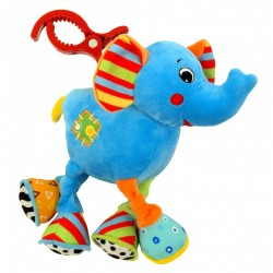 Zabawka pluszowa podróżna z wibracją Baby Mix TE-8562A-20 - Słonik