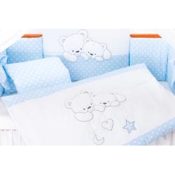 Pościel 3-el Tuttolina Cuddle Bears niebieskie kropki