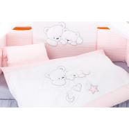 Pościel 3-el Tuttolina Cuddle Bears różowe paski