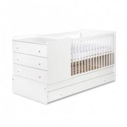 Łóżko+komoda kompakt Klupś - biały