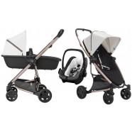 Wózek dziecięcy Quinny Rachel Zoe Luxe Sport - 3w1 Zapp Flex Plus + gondolą LUX + fotelik Maxi-Cosi PebblePlus