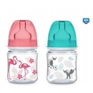 Butelka szerokootworowa 120ml EasyStart Newborn Baby Canpol 35/226 Jungle