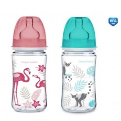 Butelka szerokootworowa antykolkowa 240ml EasyStart Newborn Baby Canpol 35/227 Jungle