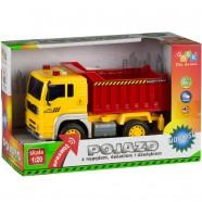 Pojazd z napędem, światłem i dźwiękiem od 36m+ Anek WY510A wywrotka - żółto-czerwony