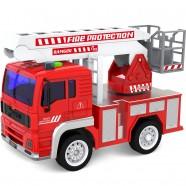 Pojazd z napędem, światłem i dźwiękiem od 36m+ Anek WY550C straż pożarna - czerwony