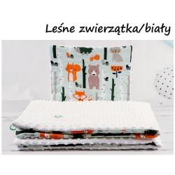 Komplet do wózka Minky Infantilo - Leśne Zwierzątka + biały