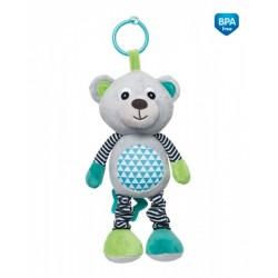 Zabawka pluszowa z pozytywką od 0m+ Miś 27 cm Canpol 68/053 - Grey