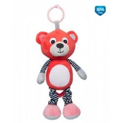 Zabawka pluszowa z pozytywką od 0m+ Miś 27 cm Canpol 68/053 - Coral