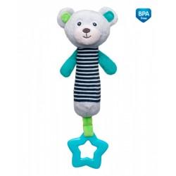 Zabawka pluszowa piszczałka od 0m+ Miś 22,5 cm Canpol 68/055 - Grey
