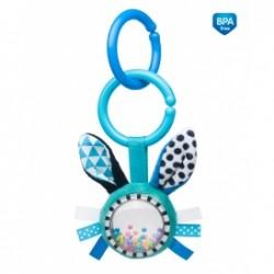 Zabawka pluszowa z grzechotką od 0m+ Canpol 68/058 Królik 19 cm - Blue