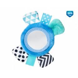 Zabawka pluszowa na rączkę z lusterkiem od 0m+ Canpol 68/056 - Blue
