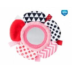 Zabawka pluszowa na rączkę z lusterkiem od 0m+ Canpol 68/056 - Pink