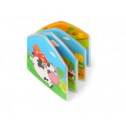 Książeczka kąpielowa piszcząca od 6m+ BabyOno 889 Country Animals - 1 szt