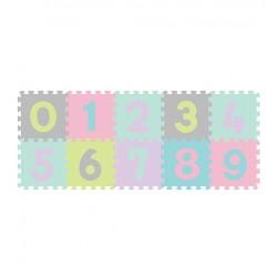 Puzzle podłogowe 6m+ BabyOno 274/02 Cyfry pastelowe - 10 szt