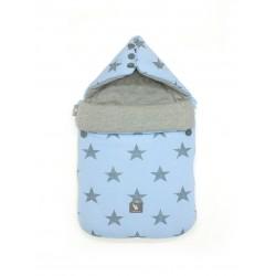 Śpiworek do wózka i fotelika Cottonmoose - 330 Blue Star Cotton