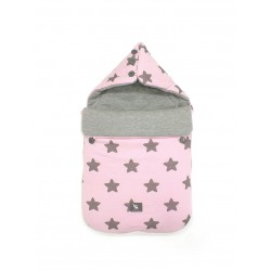 Śpiworek do wózka i fotelika Cottonmoose - 330 Pink Star Cotton