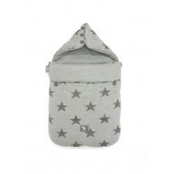 Śpiworek do wózka i fotelika Cottonmoose - 330 Grey Star Cotton
