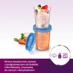 Pojemniki do przechowywania pokarmu 240 ml Avent SCF639/05 - 5 sztuk