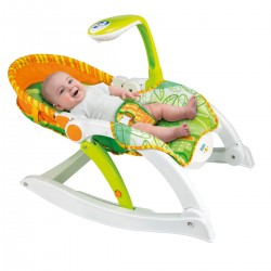 Leżaczek fotel na biegunach 3w1 Rośnij Ze Mną od 0 do 18 kg Smily Play 0858