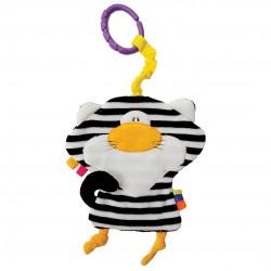 Przytulanka Kot pasiak biało-czarny szeleszczący od 0m+ 24 cm Mom's Hencz 923