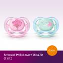 Smoczek uspokajający Ultra Air 0-6m+ Avent SCF343/20 - 2 szt