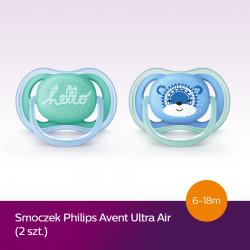 Smoczek uspokajający Ultra Air 6-18m+ Avent SCF342/22 - 2 szt