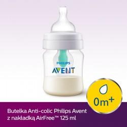 Butelka Avent Anti-colic 125 ml z nakładką Air-Free SCF810/14