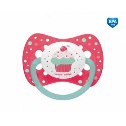 Smoczek uspokajający symetryczny od 0-6m+ Canpol 23/282 Cupcake - 1 szt