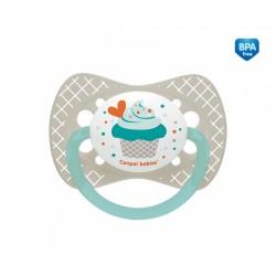 Smoczek uspokajający symetryczny od 6-18m+ Canpol 23/283 Cupcake - 1 szt