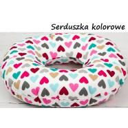 Poduszka poporodowa koło połogowe INFANTILO - serduszka kolorowe