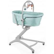 Łóżeczko leżak krzesełko fotelik Chicco Baby Hug 4w1 - Aquarelle