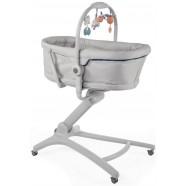 Łóżeczko leżak krzesełko fotelik Chicco Baby Hug 4w1 - Glacial