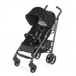 Wózek Chicco New Lite Way 3 Jet Black z pałąkiem i śpiworkiem-do 22kg wagi dziecka