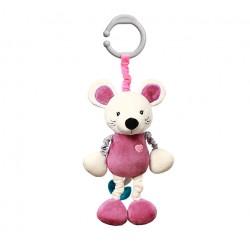 Zabawka welurowa z wibracją od 0m+ BabyOno 629 Mouse Sybil 35 cm