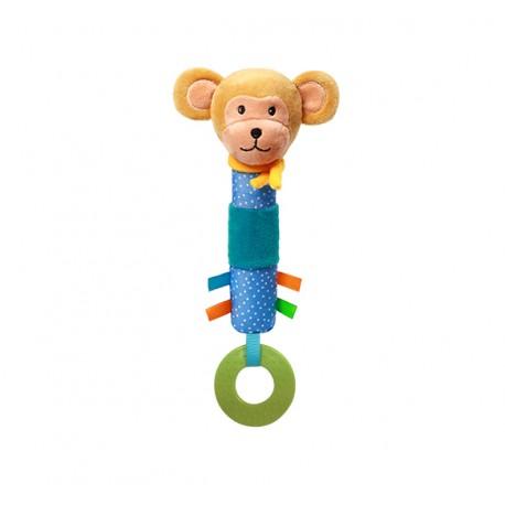 Zabawka piszczek od 6m+ BabyOno 624 Monkey Eric 26 cm