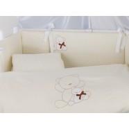 Pościel 3-el Tuttolina Bows - 190 Cream