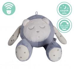 Szumiś śpiąca maskotka z czujnikiem snu - szara