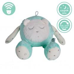 Szumiś śpiąca maskotka z czujnikiem snu - turkusowa