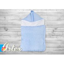 Rożek śpiworek 70x35 cm ARTEX - niebieski