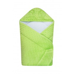 Becik rożek z kapturkiem Minky DuetBaby 631 - zielony