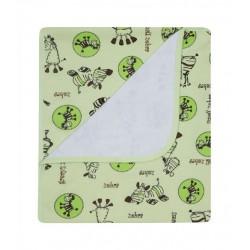 Kocyk letni bawełna 80x90 cm DuetBaby 072 - zielony