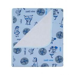 Kocyk letni bawełna 80x90 cm DuetBaby 072 - niebieski