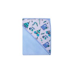 Okrycie kąpielowe termofrote 80x80 cm DuetBaby Standard II 050 - niebieskie