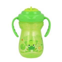 Bidon ze słomką 360 ml Akuku A0269 - zielony